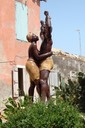 Liberation Sculpture at slave house